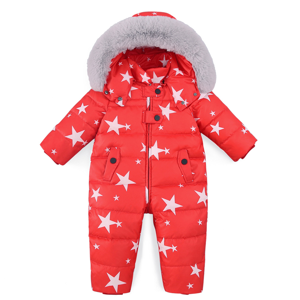 3ea649b7e New 2018 Boys Girls Jumpsuits Winter Overalls Rompers Duck Down ...