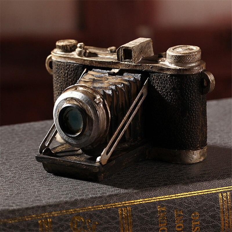 Europeu de Resina do Vintage Miniaturas de Móveis de Resina Resina do Vintage Câmera Estilo Handwork Decoração Imitação Câmera Enfeites do Vintage