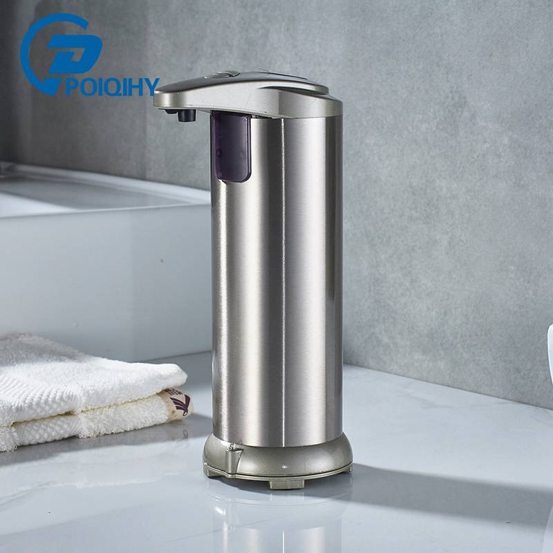 POIQIHY Stainless Steel Liquid Soap Dispenser Automatic sensor switch Kitchen Sink Liquid Soap Dispenser cheaper stainless steel liquid soap dispenser kitchen sink soap box free shipping chrome finished