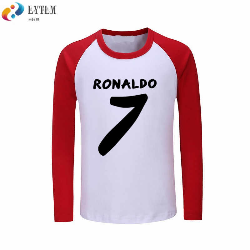 huge discount 17b38 60730 LYTLM Ronaldo T Shirts for Boys Boys T Shirt Long Sleeve Cotton Clothes  Cristiano Ronaldo 7 Korean Kids Tops Tee Vetement Enfant