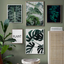 Monstera Palm leaf Green Plant Quote Wall Art Canvas Painting Nordic Posters And Prints Wall Pictures For Living Room Home Decor green leaves do what you love quote nordic posters and prints wall art canvas painting plant wall pictures for living room decor