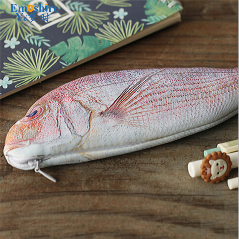 Creative Student Stationery Wholesale Creative Fish Pencil Case Stationery Pencil Case Shape School Office Writing Supplies B215 5pcs rainbow standard pencil creative writing pencils student stationery school supplies for kids gift