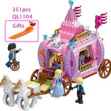 351pcs Royal Carriage Building Blocks For Girl Friend DIY Model Gifts Children Sets Brick Toys Compatible with LegoINGlys все цены