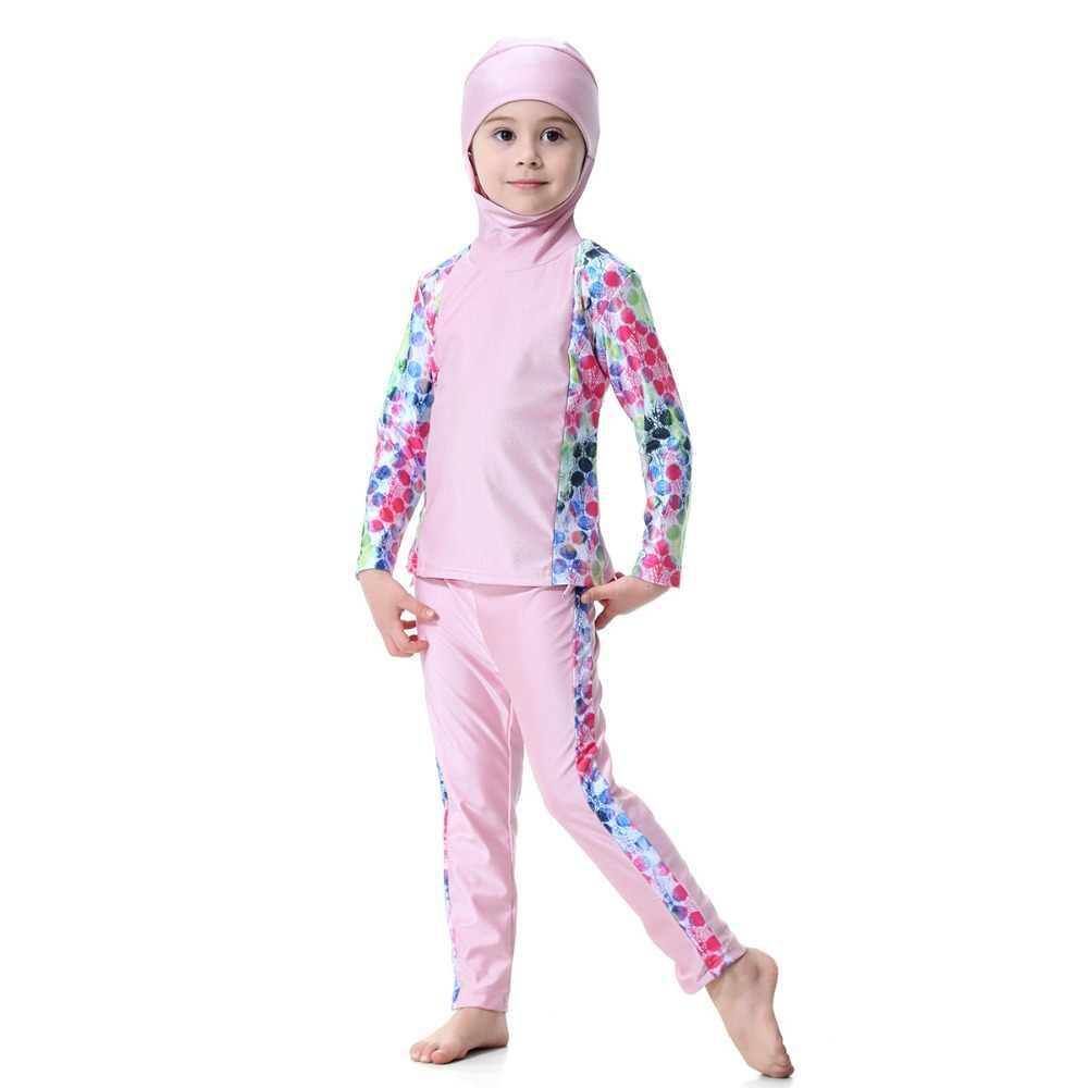 efdc085fbf6ad ... Muslim Girls Swimwear Islamic Kids Swimming Suits Beach Wear Bathing  Suits Burkinis Surf Arabic Swimwear Cute ...