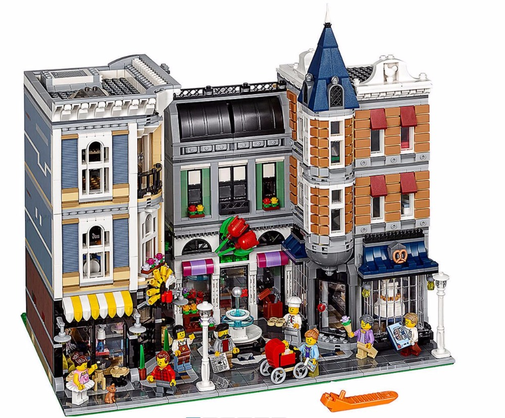 LELE 30019 City Creator 4122Pcs Assembly Square Romantic Restaurant Building Blocks Bricks Compatible 15019