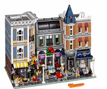 LELE 30019 создатель города 4122 шт сборка квадратный романтический ресторан строительные блоки кирпичи совместимые Legoing 15019