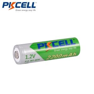 Image 2 - 8 قطعة/البطارية PKCELL AA NIMH 1.2 فولت 2200 مللي أمبير ni mh 2A 1.2 فولت منخفضة التفريغ الذاتي دائم AA بطاريات قابلة للشحن Bateria Baterias