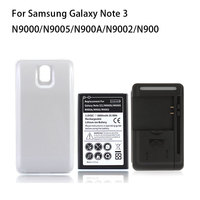 Extended Repalcement Mobile Cell Phone Battery For Samsung Galaxy Note 3 N9000 N9005 6800mAh Back Cover