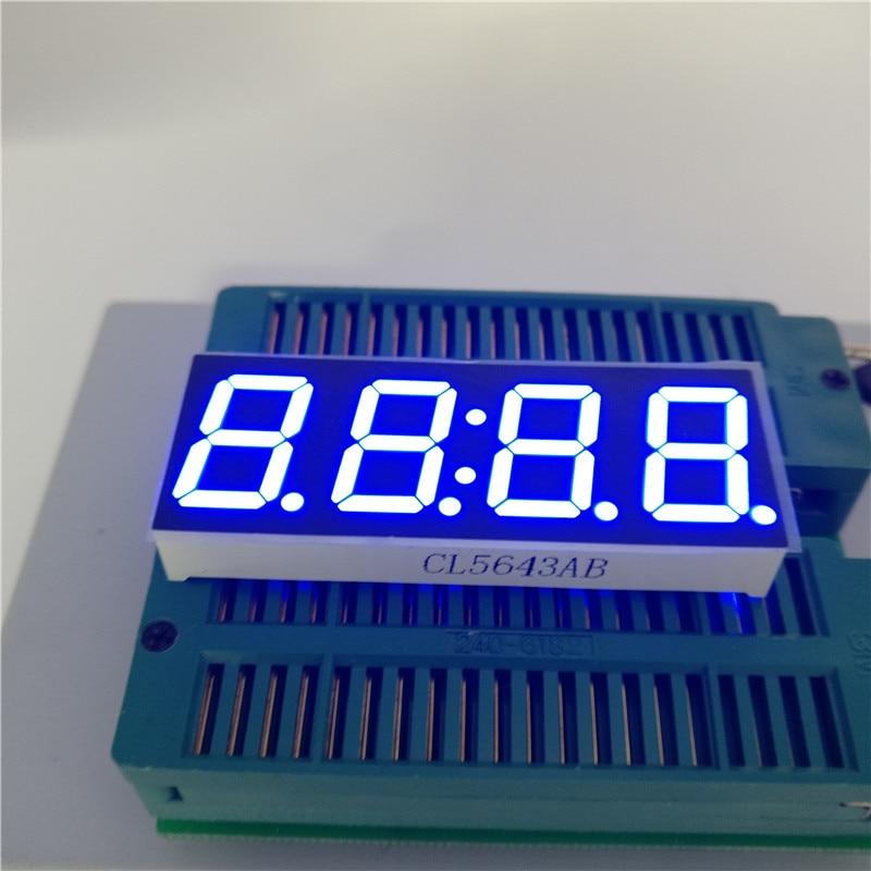 10pcs Common Cathode 0.56 Inch 4 Bit Blue Digital Tube LED Display for DIY Clock