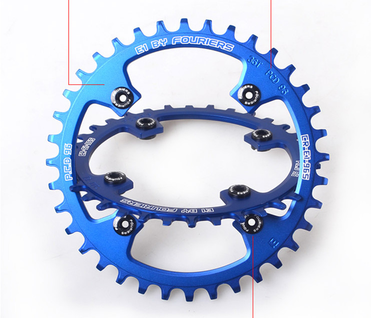 MTB Mountain Bike Bicycle 7075 Aluminium Crankset Disc ChainWheel Tooth Slice BCD96 32T 34T 36T Round/Oval Chain Wheel mountain bike four perlin disc hubs 32 holes high quality lightweight flexible rotation bicycle hubs bzh002