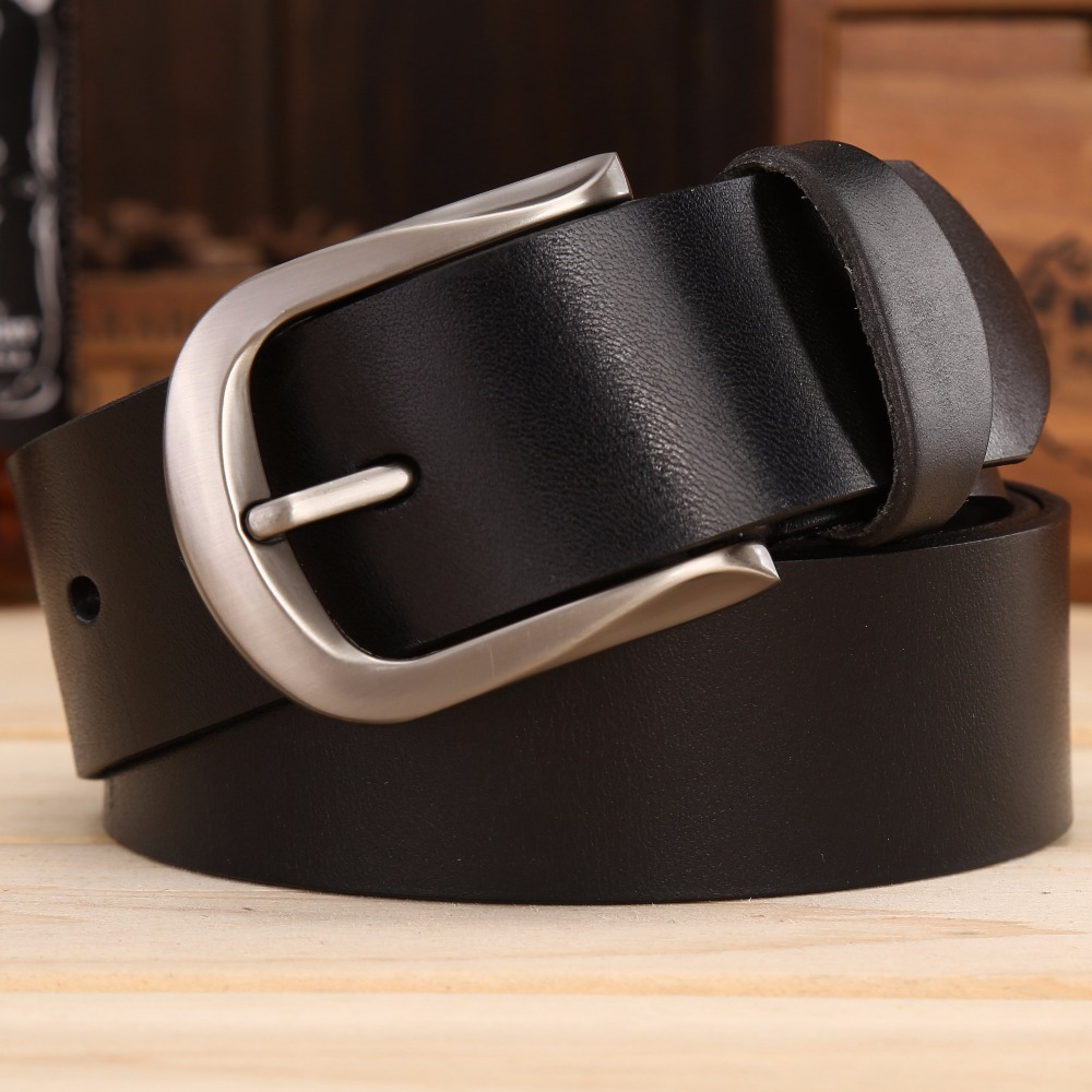 mens belts luxury high quality full grain cattle hide 100% genuine leather real waist strap jeans cowboys 2018 red 3.8 cm cintos