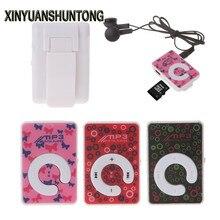 XINYUANSHUNTONG MP3 Mini Clip Dot Circle Pattern Music MP3 Player Support TF Card + Mini USB Cable Earphone