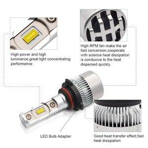 Image 3 - H4 Hi Lo faisceau H7 H8 H9 H11 9005 9006 HB3 HB4 6000 Kit de Conversion dampoules de phares de voiture 70W 6000lm CSP Chips K 12V