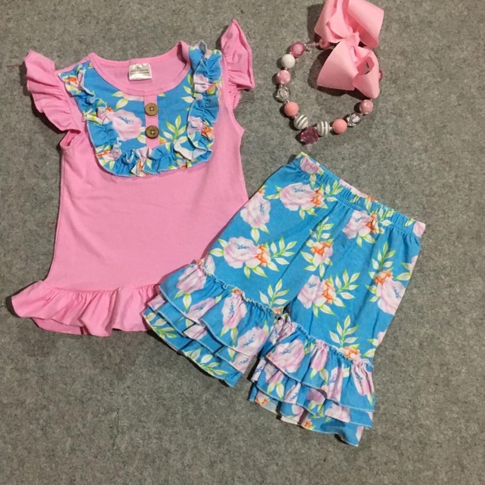 girls summer cotton shorts clothing girls cute toddler ...
