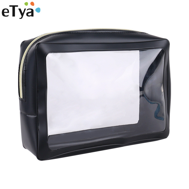 ETya Travel Accessories Women Transparent PVC Travel Packing Organizers Bag Cases Pouch Luggage Cosmetic Toiletry Kit Bag