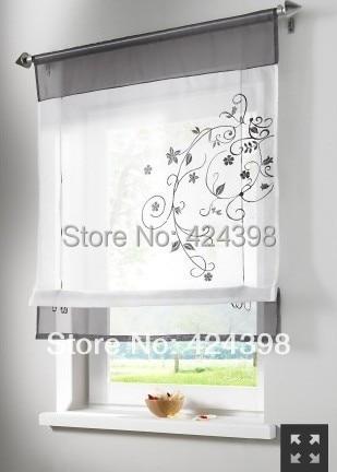 US $11.82 15% di SCONTO|Morden ricamato tende per finestre tende a  pacchetto breve tenda per la cucina caffè sheer tende di tulle cortinas per  la ...