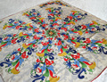 Fashion Spring And Autumn Symmetry Print Silk Scarf Women Hand Roll-Hemmed Silk Twill Infinity Square Shawl