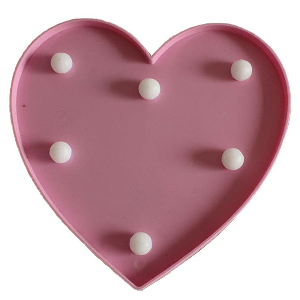 English Letter Big Pink Love Light For Modeling Lights Wedding Digital Lights Birthday Wedding Marriage Proposal White Light