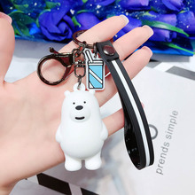 Creative Stereo Silicone Bear Key Chain Pendant Cute Cartoon Ornaments