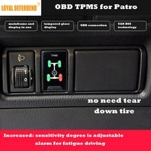 ЛОЯЛЬНЫЙ защитник Patro OBD TPMS система контроля давления в шинах в режиме реального времени интеллектуальный мониторинг OBD датчик охранная сигнализация