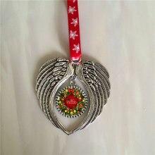 סובלימציה חג המולד מלאך כנפי צורת אישית ריק מתכלה אספקת חם העברת הדפסה 10 יח\חבילה