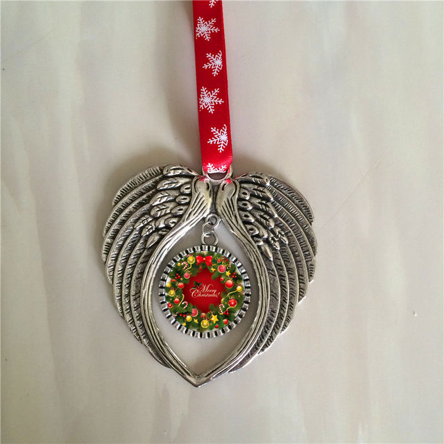 sublimation christmas angel wings shape personalized blank consumables supplies hot transfer printing material 10pieces/lot