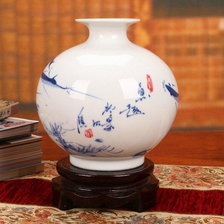Jingdezhen fabricants de céramiques vendant à la main pastel lotus poisson figure de moderne chinois classique ornements grenade