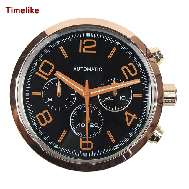 Luxury Design Watch Wall Clock With Stainless Steel Wall Watches With logo for Home Decortion