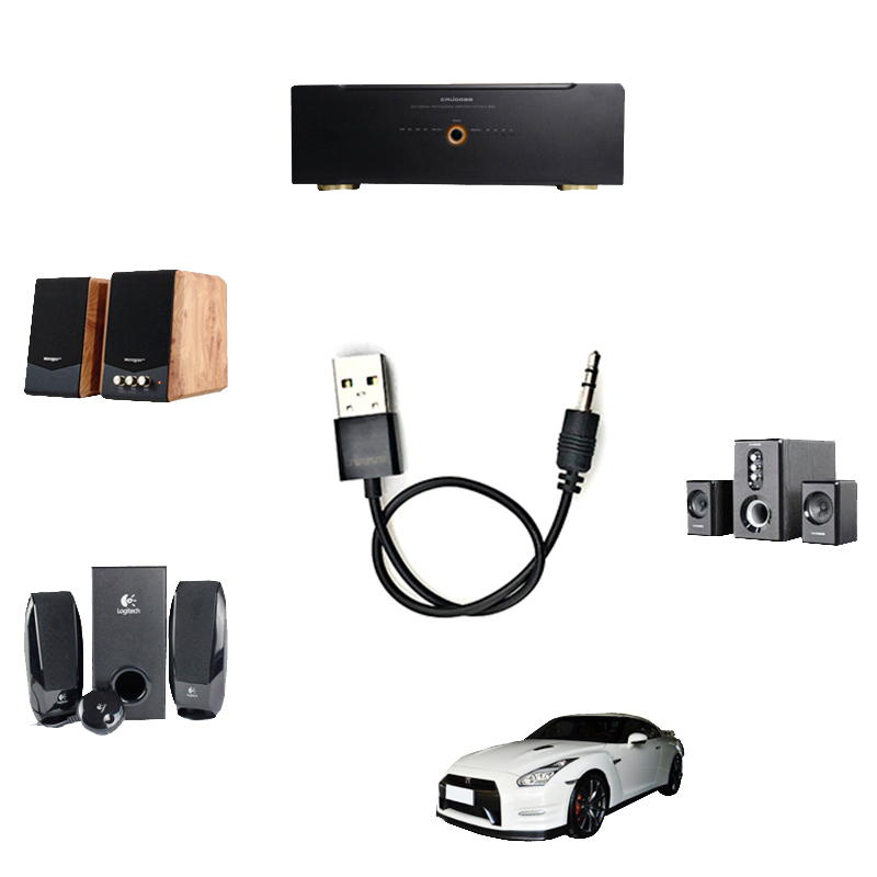 Car accessories Bluetooth Adapter USB Mini Audio Receiver 3 5 AUX Bluetooth Receiver Wireless Bluetooth Stereo car speaker in Bluetooth Car Kit from Automobiles Motorcycles