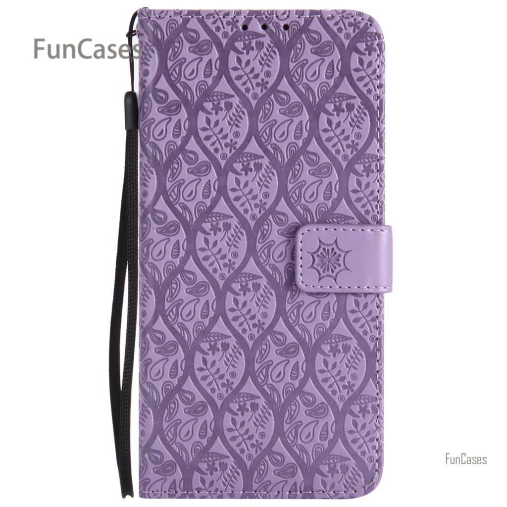 Galleria fotografica Vine Emboss Flip Case sFor Capinha Samsung A8 Plus 2018 PU Leather Bag Cover Glitter Flip Case Samsung Galaxy A8 Plus 2018 A730
