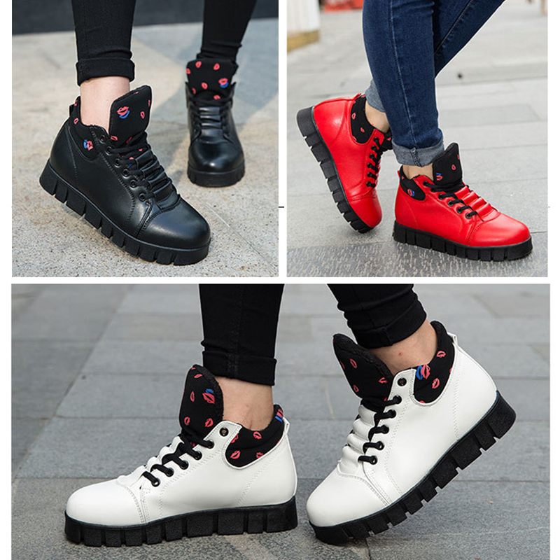 2017 CBJSHO New Black Winter Shoe Women Pu Leather Snow Boots Women Flats  Waterproof Boots Fashion Ankle Boots Warm Shoes Woman-in Snow Boots from  Shoes on ... 9a032fed7a27
