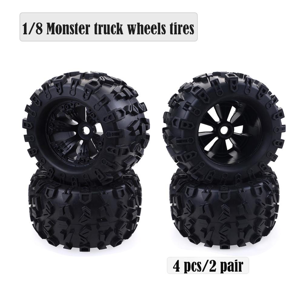 1/8 Bigfoot Monster truck roues 170mm pneus 17mm moyeu hexagonal pour RC 1/8 Redcat HPI HSP Traxxas Axial Himoto mise à niveau des pièces de pneus.
