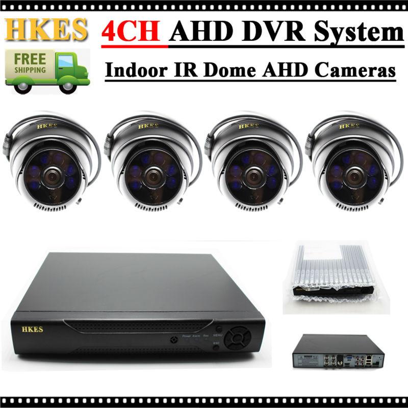 ФОТО HKES 1.0MP Indoor IR Dome AHD Camera 720P Home Security CCTV System Video Surveillance Set