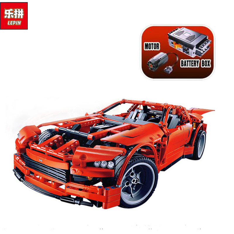 LEPIN 20028 Technic series Super Car assembly toy car model DIY brick building block gift for boy New Year Children Funny 8070 police station park diy track car parking building block toy boy gift learning