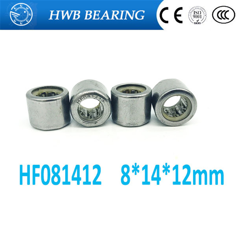 Free shipping 10pcs HF081412 FC-8 one way clutch needle roller bearing 8X14X12mm bearing 8mm shaft hexagon head na4910 heavy duty needle roller bearing entity needle bearing with inner ring 4524910 size 50 72 22