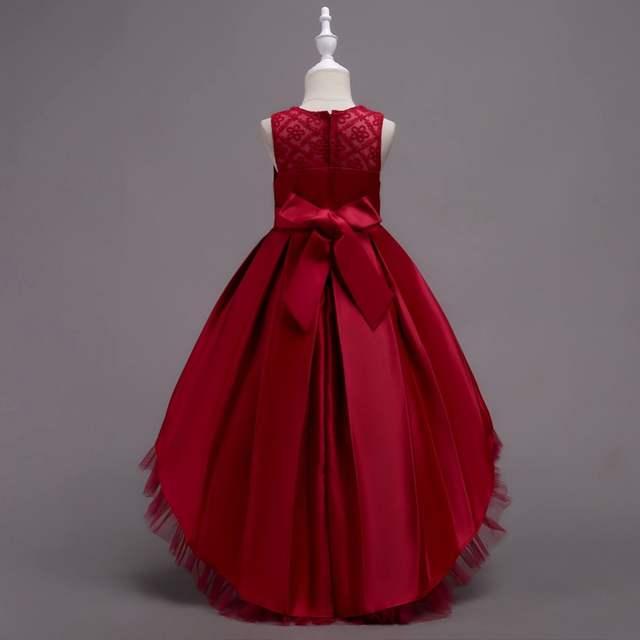 838c364496c7 Online Shop Pretty High Low Satin Flower Girl Dresses 6 Colors 2018 ...