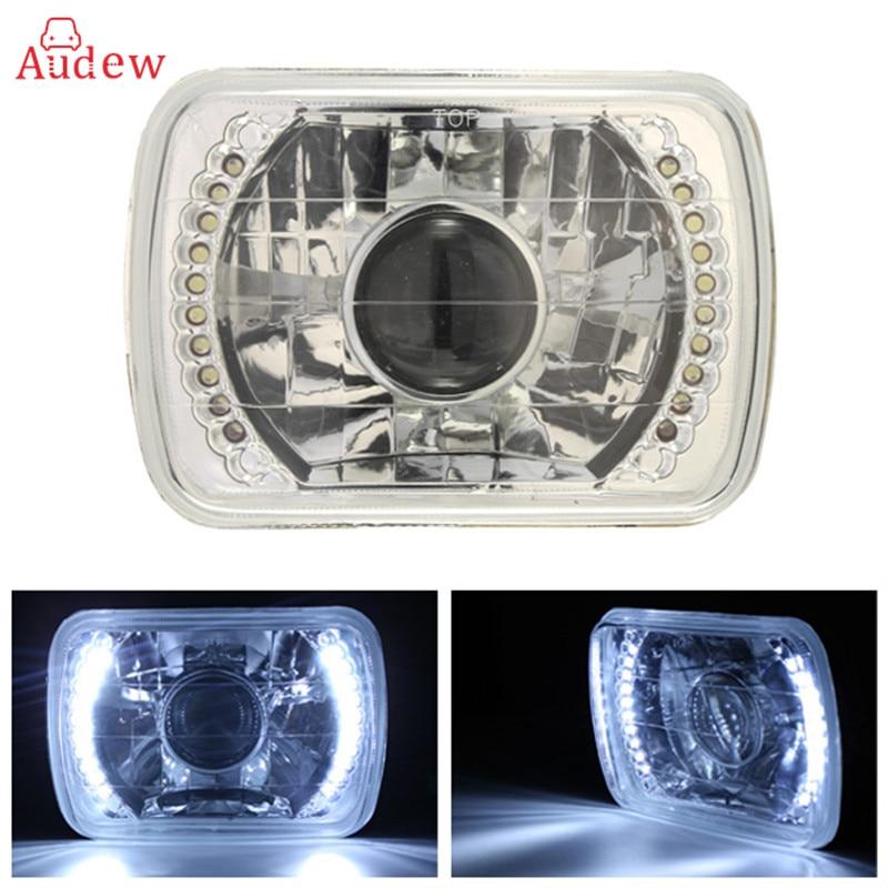1Pcs H6014/H6052/H6054 Chrome 7x6 LED Ring Projector Headlights Conversion Shell аккумулятор yoobao yb 6014 10400mah green