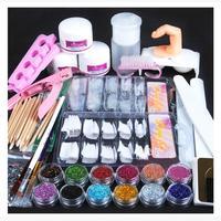 Acrylic Powder Glitter Nail Brush False Finger Pump Nail Art Tools Kit Set Women's Fashion Drop Shipping Y1207