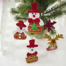 Christmas Fabric Plush Doll Pendant Tree Cute Home Ornament Snowman Santa Claus Hanging Decoration