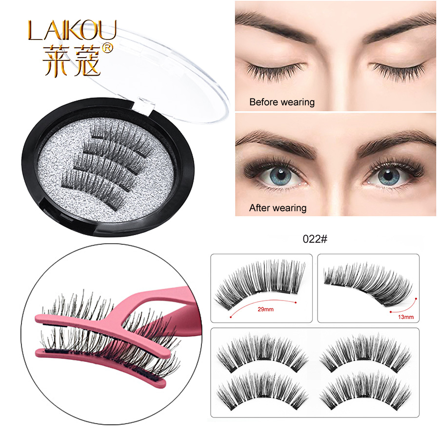 New 8pcs Black 3d False Eyelashes Double Magnetic Magnetic Eyelashes Pure Hand Made Eye Lashes Makeup Tool Eyelash Extension Back To Search Resultsbeauty & Health