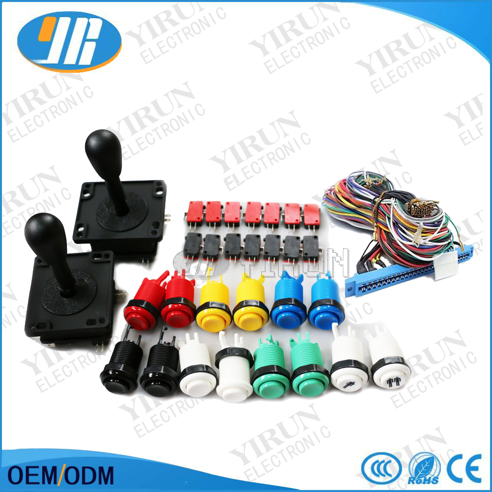 US $37 9 |DIY Arcade Jamma mame arcade parts kit 2 joysticks 16 buttons 1  jamma wire harness high quality game parts-in Coin Operated Games from