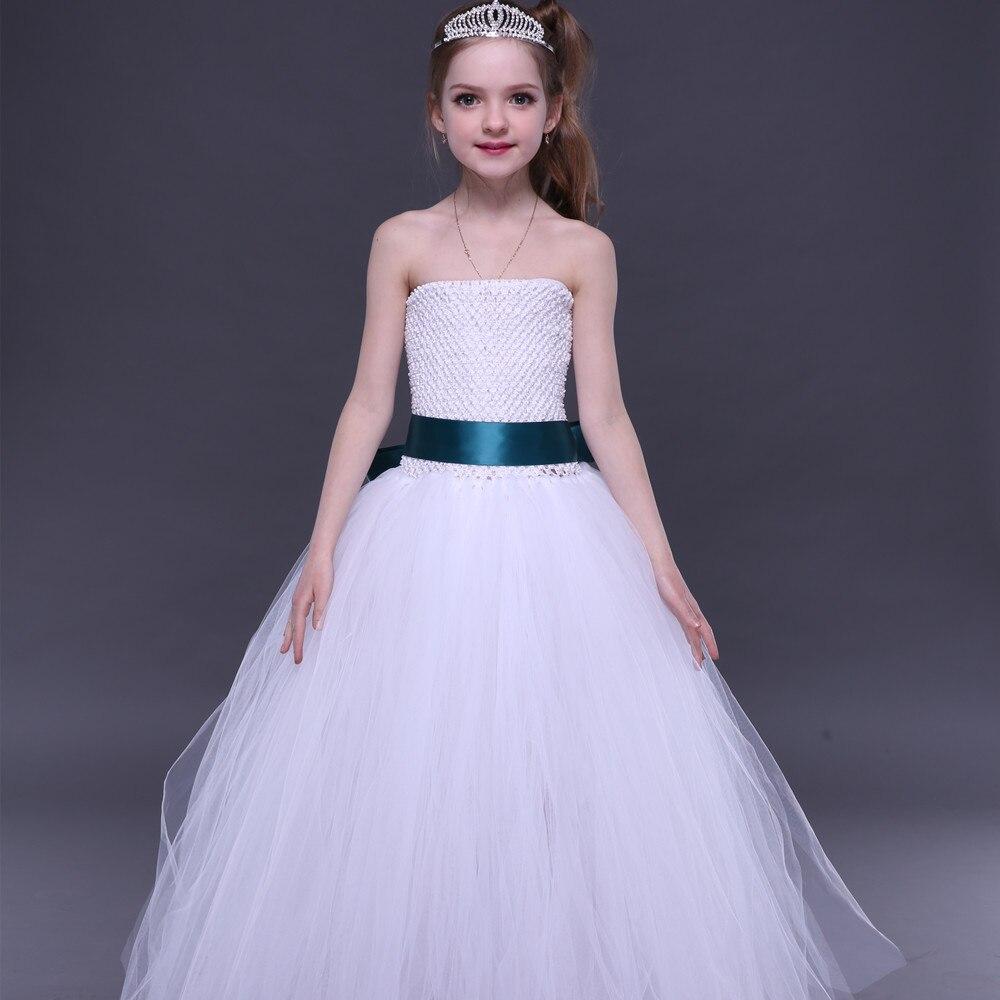 Weißes Erstkommunion-Mädchen-Ballettröckchen-Kleid mit - Kinderkleidung - Foto 6