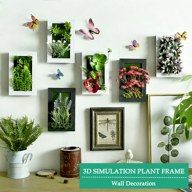 3D de la vendimia de flores artificiales marco marco marco de la ...
