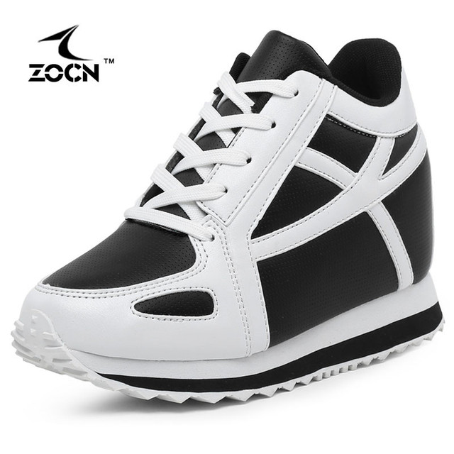 ZOCN Women Student Casual Shoes High Quality Fashion 2016 Autumn Winter Height Increasing Flats Shoes Breathable Dames Schoenen