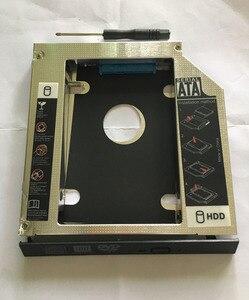 """Image 2 - WZSM חדש 12.7 מ""""מ SATA 2nd SSD HDD Caddy עבור ACER Aspire V3 771G V3 772 V3 772G V3 571G V3 471G קשה דיסק כונן caddy"""