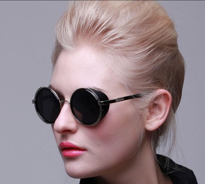 round steampunk sunglasses for women