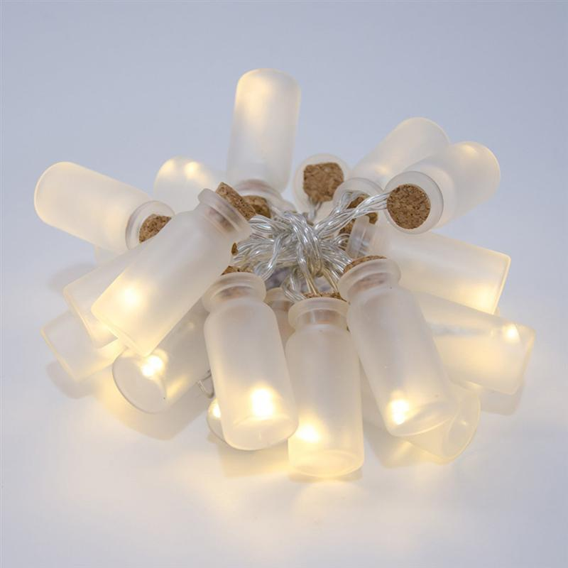 Glass Jar LED Fairy Lights With 20 Warm White White LED Battery Operated String Lights Party Decoration