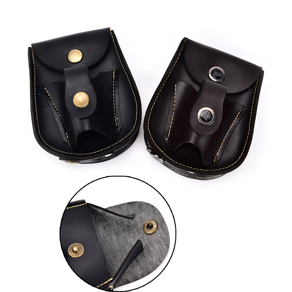 2In1 Black Leather Waist Packs For Slingshot Pouch Ammo Catapult Steel Balls Bearings Bag Pouch