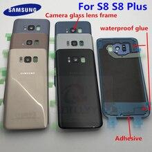 Para SAMSUNG Galaxy S8 G950F S8 Plus G955F tampa de vidro para porta traseira da bateria habitação para SAMSUNG S8 Original traseiro tampa de vidro
