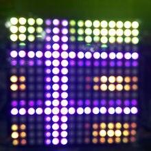 цена на DC5V 8*32 /16*16 Full color WS2812 5050 RGB SMD Flexible LED Pixel Panel Light